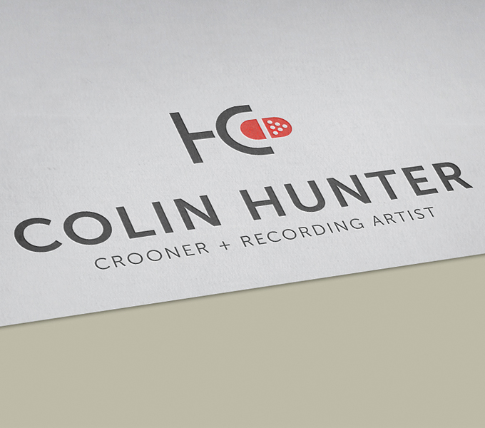 Colin Hunter branding - process