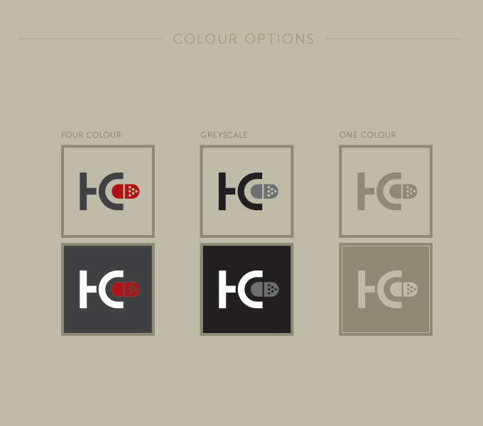 Colin Hunter branding - logo orientation