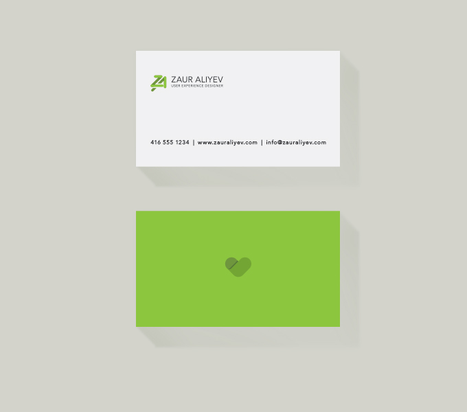 Zaur Aliyev business card